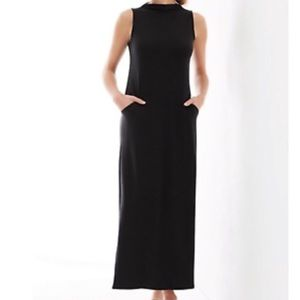 J. JILL black sleeveless maxi dress size XS Tencel